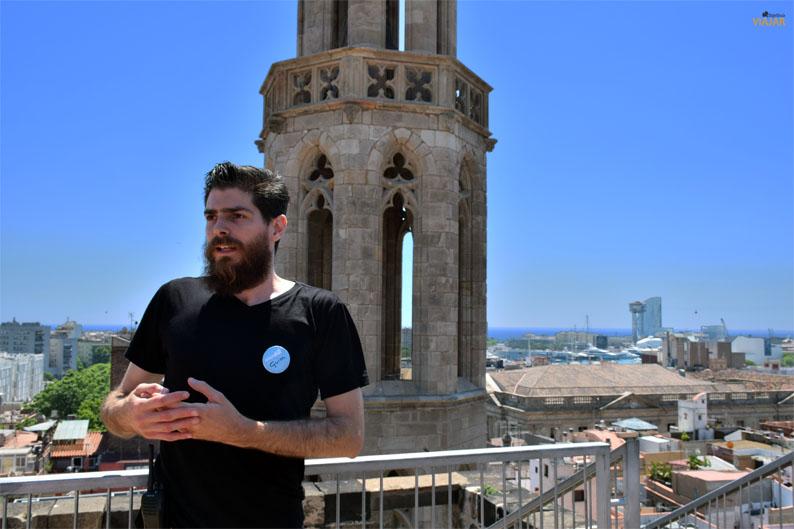Litoral de Barcelona desde las terrazas de Santa Maria del Mar