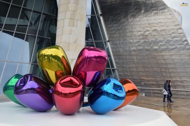 Tulipanes. Guggenheim Bilbao