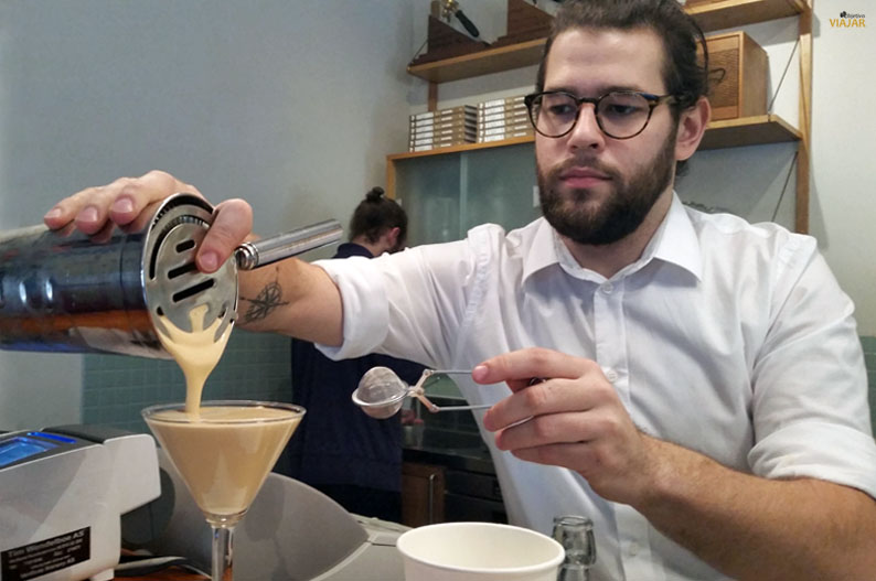 Cappuccino al freddo en Tim Wendelboe. Grünerløkka