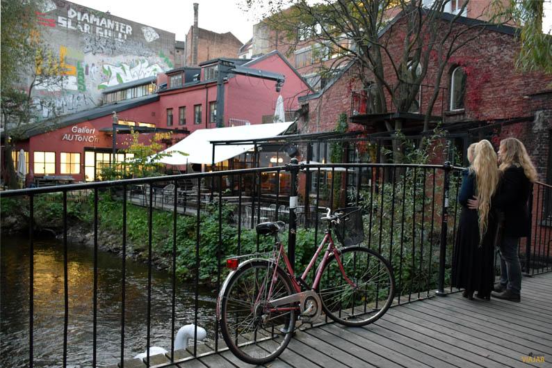 El Akerselva a su paso por Ingens Gate. Oslo