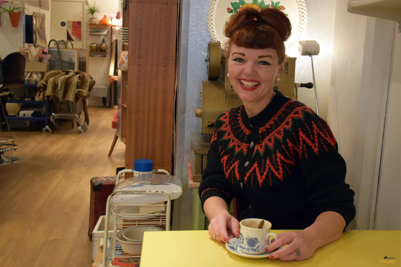 Tonje Fagerheim. Retrolykke kaffebar. Que hacer en Grünerløkka