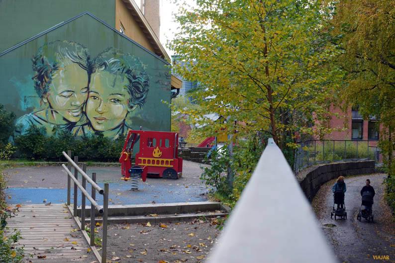 Arte urbano en Vulkan. Oslo