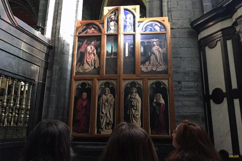 Adoracion del Cordero Mistico. Catedral de San Bavon, Gante
