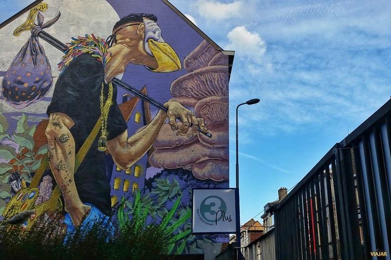 Mural de ASCS. Street art en Gante