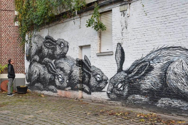 Mural de ROA. Arte urbano en Gante
