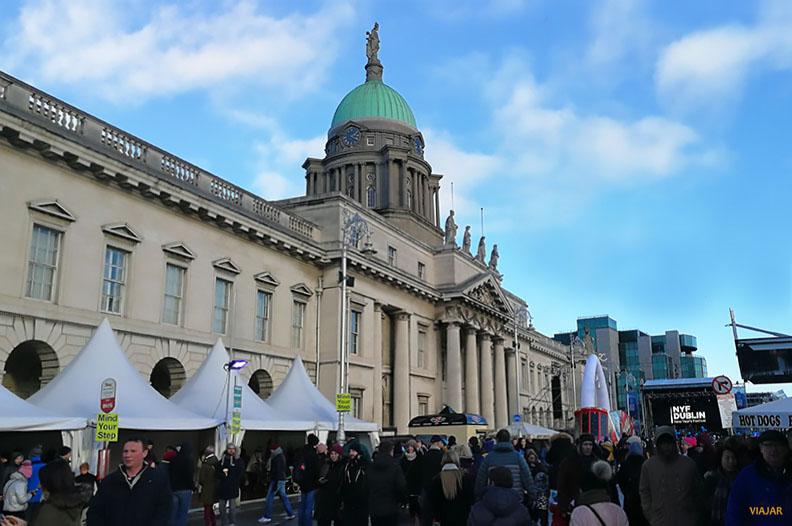 Custom House. Nochevieja en Dublin