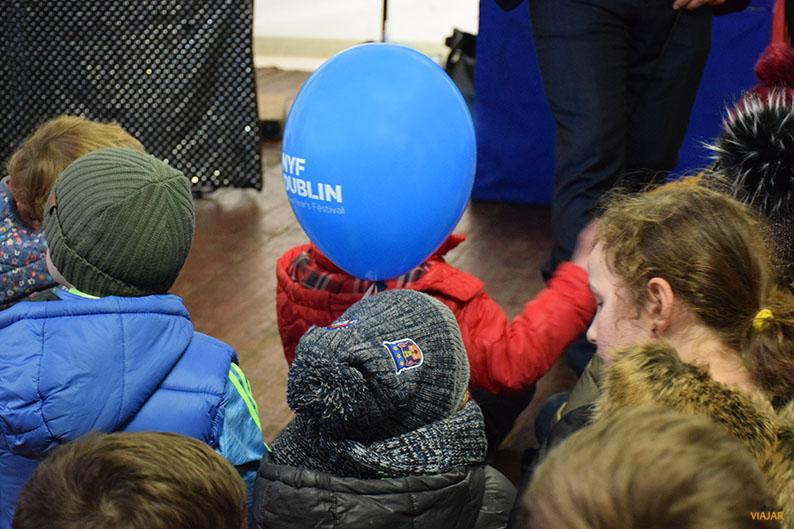 Espectaculo infantil en Año Nuevo. Dublin