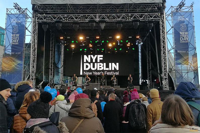 Hit Machine Drummers. Nochevieja en Dublin