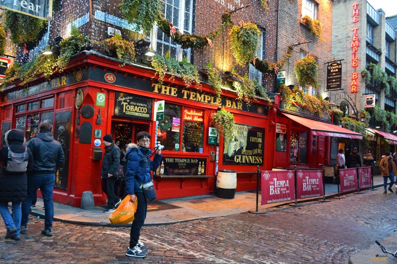 Temple Bar. Nochevieja en Dublin