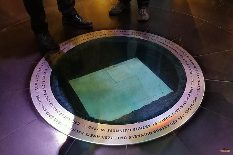 Contrato por 9.000 años firmado en 1759