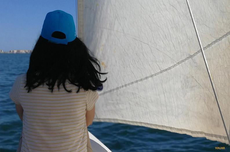 Navegar en el Mar Menor. Murcia
