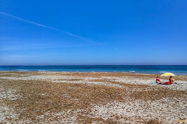 Playa de Torre Derribada. Que ver en el Mar Menor