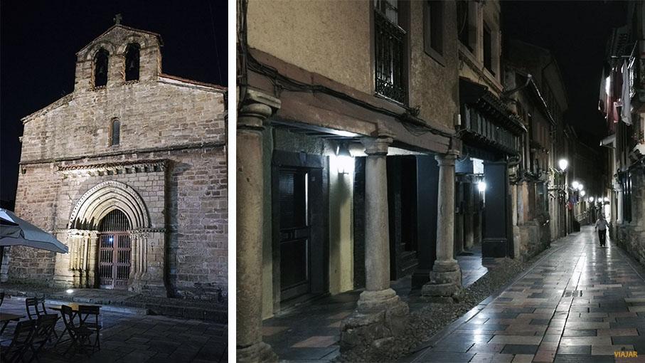 Cae la noche en Aviles. Asturias