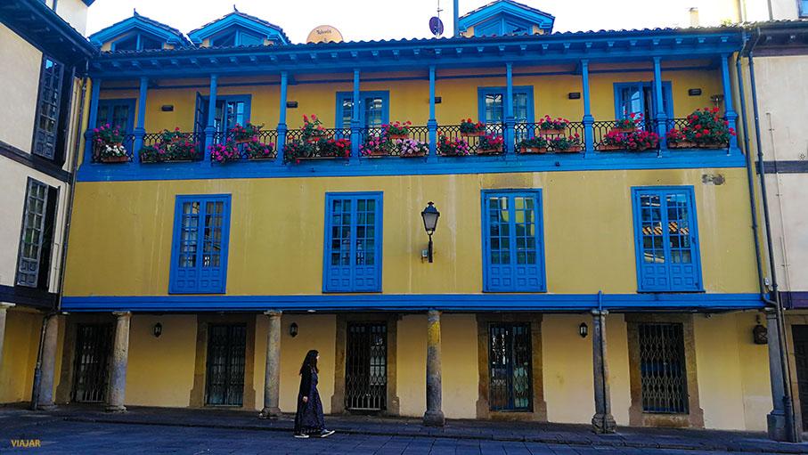 Plaza de El Fontan. Oviedo. Asturias