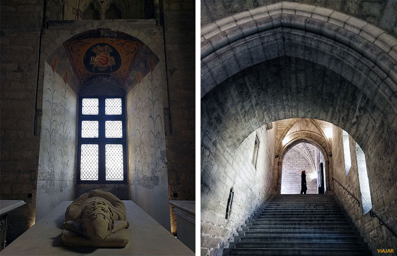 Interior del Palacio de los Papas. Avignon. Francia