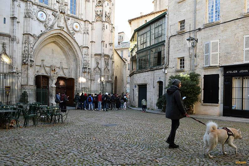 Place Saint-Pierre. Avignon. Francia