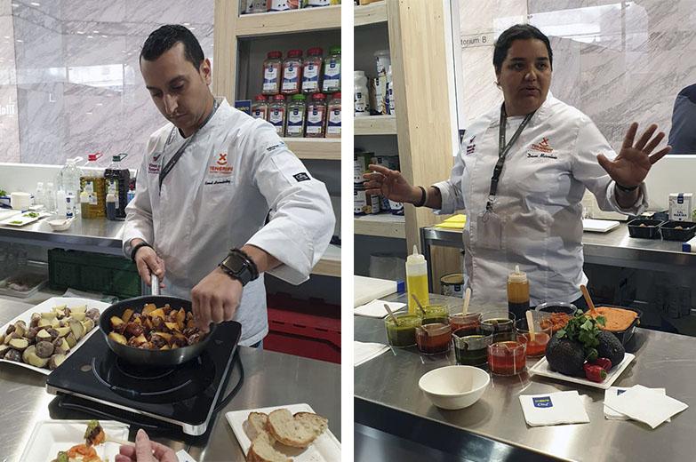 Samuel Hernandez y Diana Marcelino. Gastronomia de Tenerife