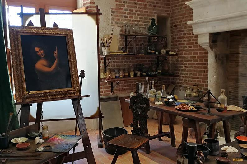 Estudio de Leonardo da Vinci. Clos Luce, Francia