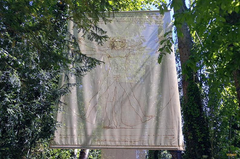 El Hombre de Vitruvio en los jardines de Clos Luce. El Valle del Loira y Leonardo da Vinci
