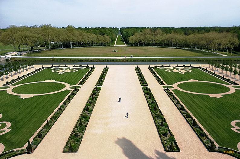 Jardines del castillo de Chambord. Valle del Loira, Francia