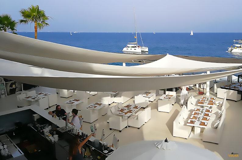 Restaurante del Purobeach Illetas. Mallorca