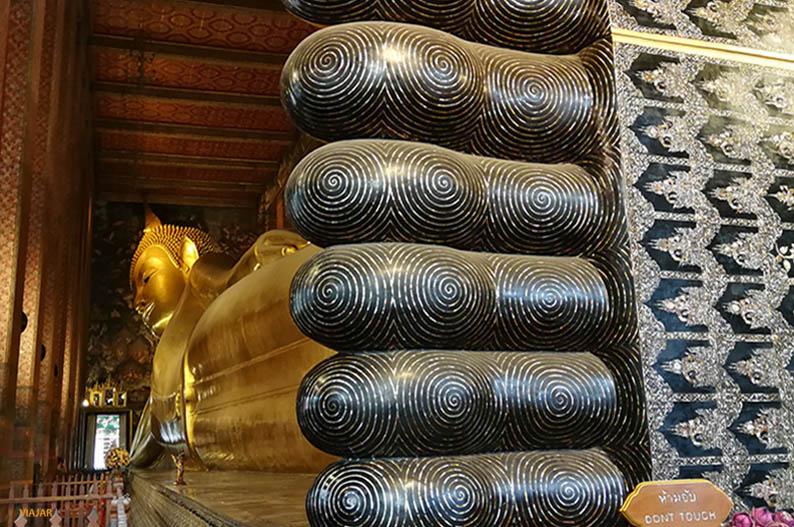 Buda reclinado de Wat Pho. Bangkok