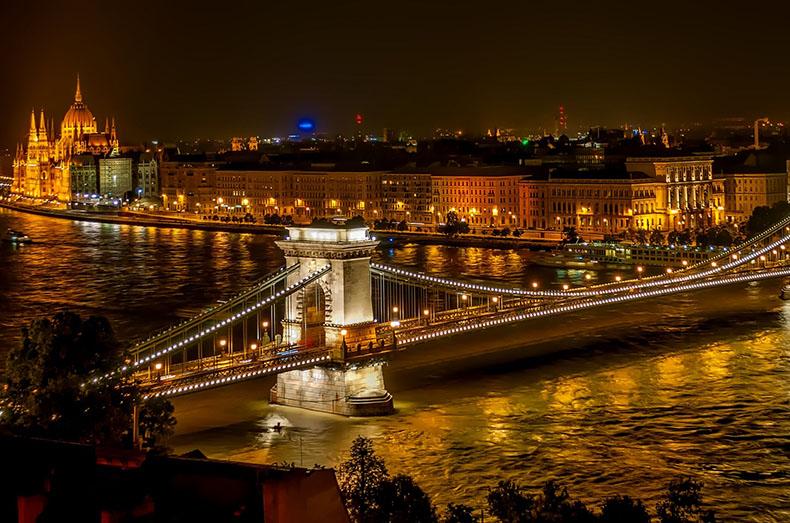 Puente de las Cadenas, Budapest. Viajar a Hungria