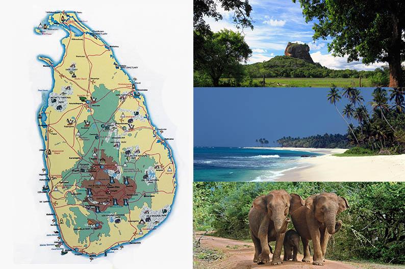 Mapa de Sri Lanka. Viajar a Sri Lanka