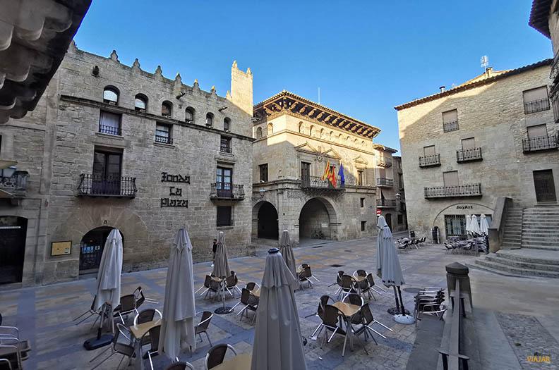 Plaza España. Que ver en Valderrobres